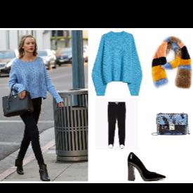 Пуловер H&M, шал MANGO, Клин MANGO, чанта MANGO, обувки Sisley