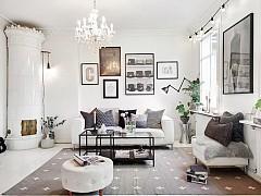 Шведски апартамент в бяло