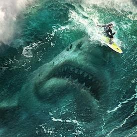 """В """"Мега звяр"""" Джейсън Стейтъм отново спасява света. Този път от огромен подводен звяр, който е считан за изчезнал вид. Мегалодон, както го наричат, напада подводница, която е част от международна програма за наблюдение на подводния свят. Единствената надежда на екипажа е спец-гмуркача Джонас Тейлър (Джейсън Стейтъм). Вече в кината."""