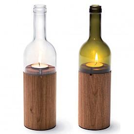 Свещник в комплект от два броя във форма на бутилки www.thedesigngiftshop.com