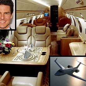 Том Круз притежава един от най-хубавите частни самолети в света - Гълфстрийм IV, който му е струвал 45 милиона долара