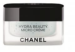 Дълбоко хидратиращ крем Hydra Beauty от CHANEL с микрокапки камелия и мощния антиоксидант Blue Ginger PFA, който прави кожата по-силна и устойчива на стрес, 164 лв.