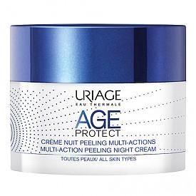 Мултифункционален нощен пилинг-крем против стареене от серията Age Protect на URIAGE