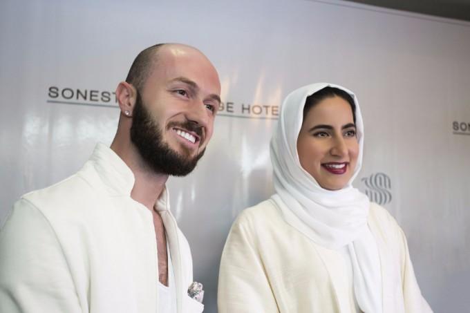 Иван Донев с Нора бин Халифа ал Халифа, шейхиня на Бахрейн