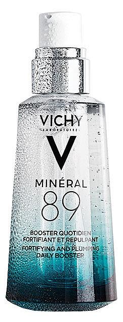 Mineral 89 на VICHY съдържа само 11 натурални съставки, които укрепват и хидратират кожата