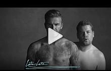 Дейвид Бекъм и Джеймс Кордън в пародийна реклама