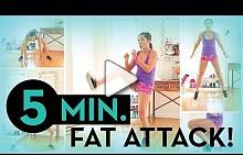5 минутна атака на коремните мускули от blogilates
