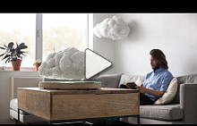 "Richard Clarkson disguises bluetooth speaker as ""levitating"" indoor cloud"