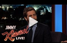 Jimmy Kimmel Tries On Jake Gyllenhaal's Lipstick