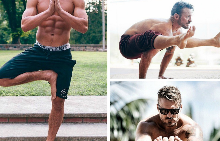 20 мъже, които правят йога