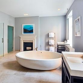 Сара Джесика   Паркър Засега Сара само е реновирала този дом, но все още не живее в него – жалко, защото тази баня е чудесна!